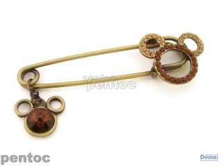 FBB07633_0040049 rhinestones brooch/pin  Mickey mouse