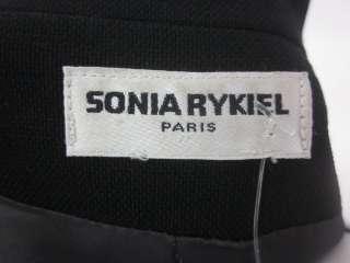 SONIA RYKIEL Black Linen Single Button Blazer