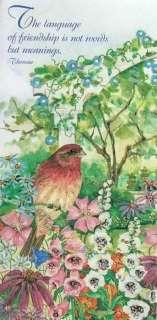 Cyndy Callog Bird Flowers Park Friendship Friend Card