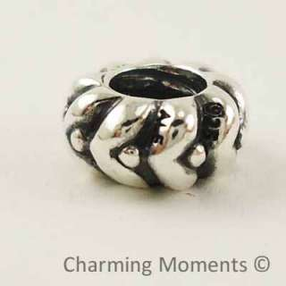 Authentic Pandora Silver Charm Heart Beats Spacer 790450 Bead