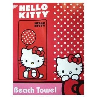 Polka Dot Balloon Hello Kitty Beach Towel   Hello Kitty Bath Towel