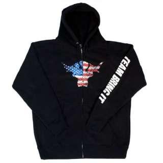 The Rock Team Bring It USA Black Zipper Hoody Sweatshirt WWE