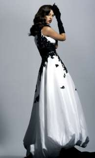 White/Black Evening DRESS bridal gown Prom ball dresses Formal gown