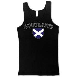 SCOTLAND Soccer T shirt Flag Football Tank Top Girl Tee