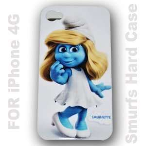 Smurfs Sister Hard Portective Back Cover Case Skin for Apple Iphone 4