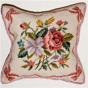 Hand Stitched Wool Needlepoint 14 Cushion Cover #T02