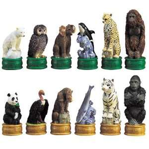 Chess Set   Endangered Species Chess Set   3.5 Height   Board
