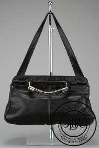 CHLOE $1698 BLACK LEATHER SASKIA SATCHEL BAG ( 55936)
