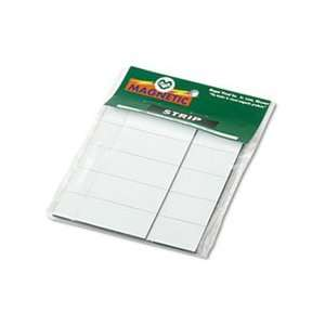 Magnetic Write On/Wipe Off Pre Cut Strips, 2 x 7/8, White, 25/Pack