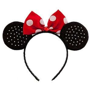 Mouse, Classic Red Sparkle Headband Ears, Halloween Costume Accessory