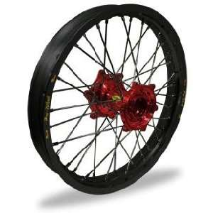 Pro Wheel Supermoto Front Wheel Set   17x3.50   Black Rim