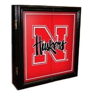 Nebraska Huskers MVP Black NCAA Dart Cabinet