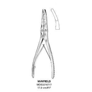 Konig Bone Rongeurs, Mayfield Double Action, Curved Tip, 6 3/4, 17
