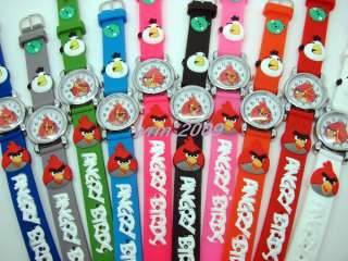 Wholesale 10PCS Angry bird Childrens watch,Xmas Gift