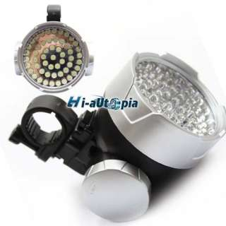New 53 White LED Bicycle Bike Head Light Lamp Torch
