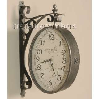 Manchester DUAL SIDED Train Station Wall Clock Double