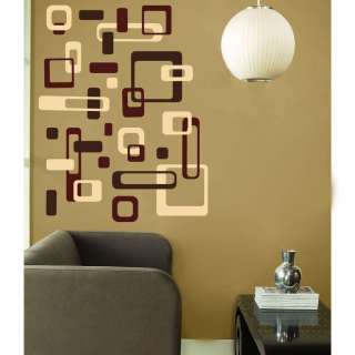 Retro ROUNDED SQUARES RECTANGLES Modern Vinyl Wall Decal Decor