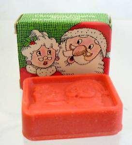 CHRISTMAS COUPLES MINI SOAPS MR. & MRS. SANTA CLAUS & SNOWMAN