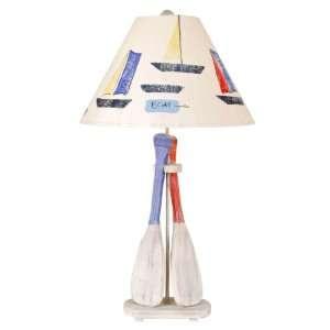 Boat Paddles Table Lamp