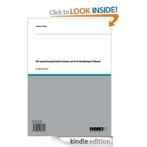 psychoanalytische Ansatz von Erik Homburger Erikson (German Edition