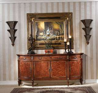 Warm Brown Rococo Buffet Sideboard