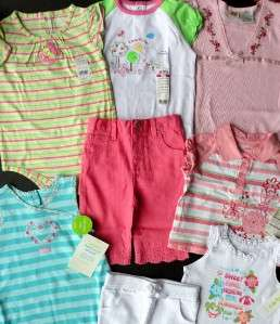 NWT SRP $85+ LOT 24 M BABY GIRLS SUMMER OUTFITS and MULTIPLE Mix