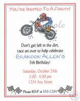 20 Custom Birthday Party/Invitations/Motorcycle/Bike