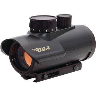 BSA Optics Huntsman 1x30 Red Dot Sight, 5 MOA, Matte Black   Clam Pack