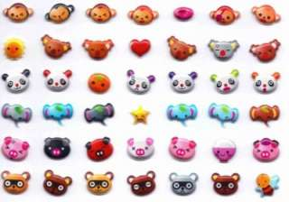 TINY ANIMAL FACE STICKERS Cat Dog Kid Craft Scrapbook