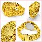 mens fashion jewelry lots 1pcs 18k full gold plated royal wristwatch