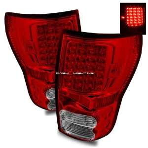 07 10 Toyota Tundra LED Tail Lights   Red Clear