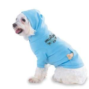 Roll Hooded (Hoody) T Shirt with pocket for your Dog or Cat LARGE Lt