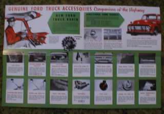 1953 Ford Truck F 1 Pick Up Panel accessories Brochure