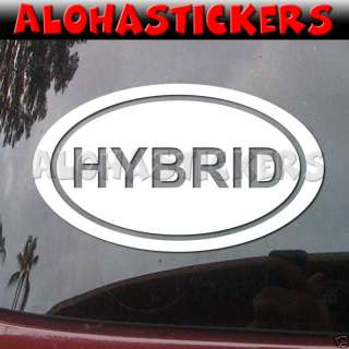 HYBRID EURO OVAL Vinyl Decal Prius Window Sticker EU240