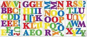 Alphabet Letter Rainbow Color Wall STICKERS Room Decor