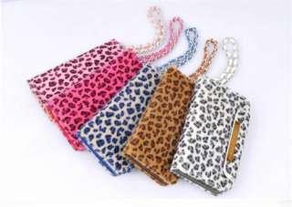 New Luxury Designer Leopard Case Cover Flip Wallet Pouch Bag For