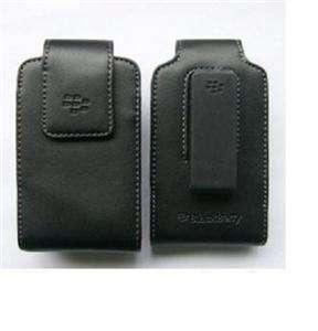 OEM BlackBerry Premium Hard Leather Pouch Case+Swivel Holster