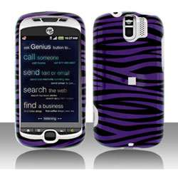 HTC MyTouch 3G Slide Purple/ Black Zebra Snap on Protective Case Cover