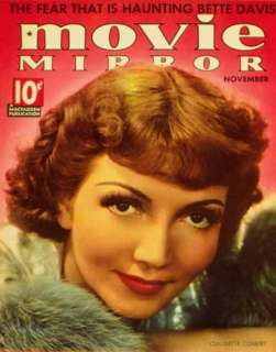 Claudette Colbert   Movie Mirror Magazine Cover 1930s Masterprint at