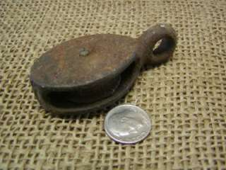 Vintage Cast Iron Pulley > Farm Antique Old Tools Implement Tractor