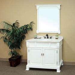 Olivia Antique White Bathroom Vanity Mirror