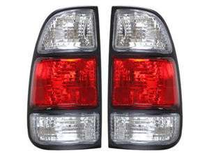 00 04 Toyota Tundra Red Clear Tail Lights DEPO 01 02 03