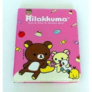 Rilakkuma pink food cute happy leather case for ipad 2