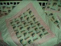 Baby Nursery Crib Bedding Set w/Miami Dolphins fabric
