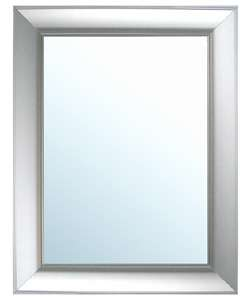 Grooved Silver Framed Wall Mirror
