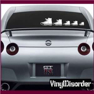 Family Decal Set Shoes Stick People Car or Wall Vinyl Decal Stickers