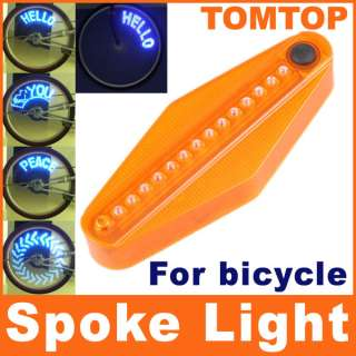 14 LED Tire Wheel Spoke Light Bike Bicycle Roll Cycling Reflector Set