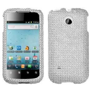 Silver Crystal Bling Case Cover Huawei Ascend II 2 M865