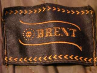 60s Brent Motorcycle Leather Jacket Brown Mens Size Large?