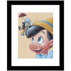 Pinocchio and Jiminy   Friendly Fun Framed Print